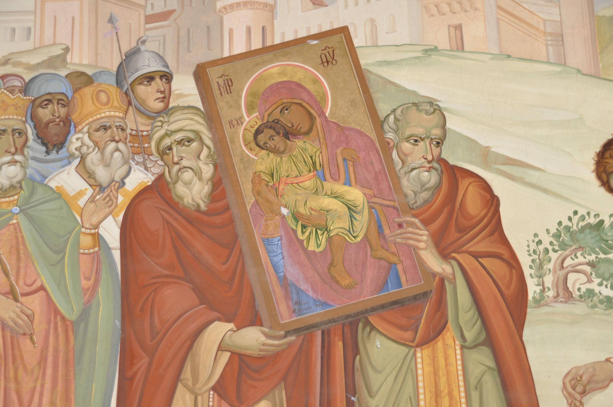 Frescoes at Kykkos Monastery reveal the legends behind its founding. Photos: Meg Pier