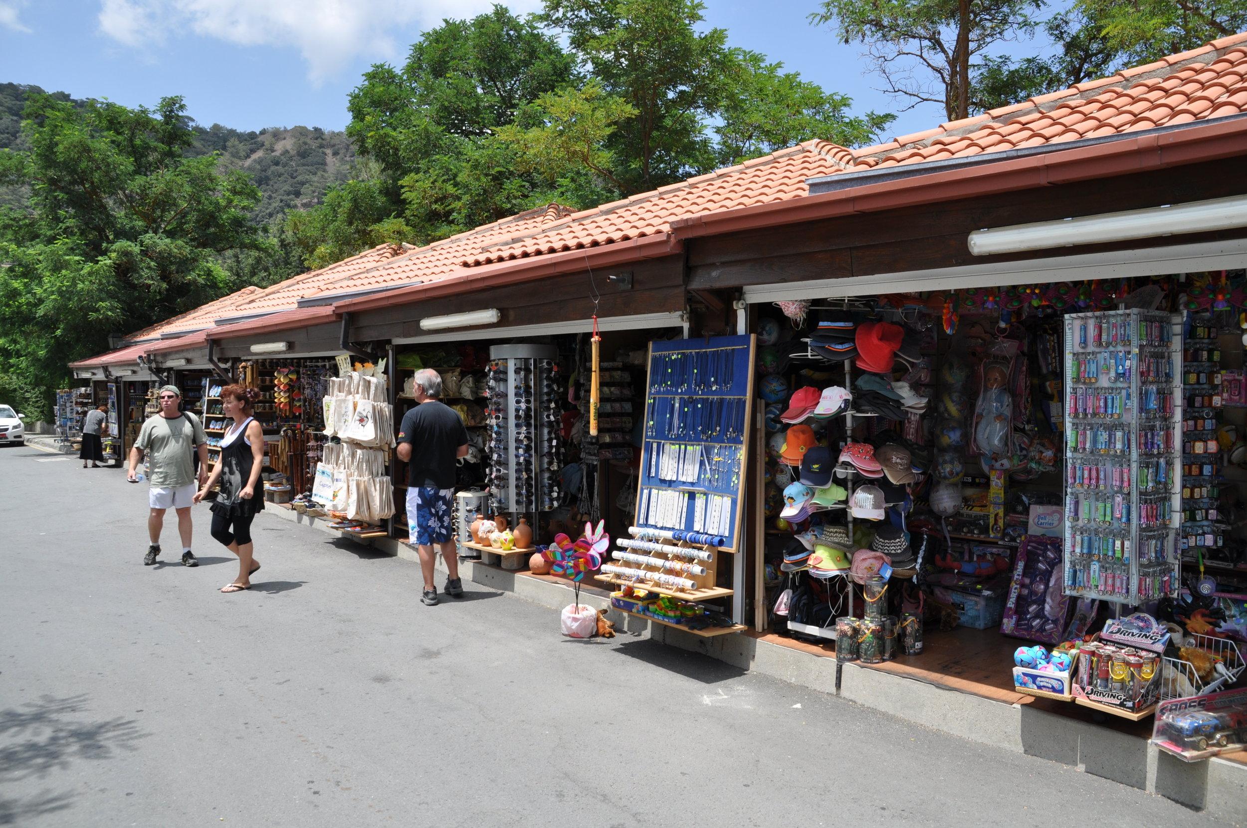 The commerce of pilgrimage. Photos: Meg Pier