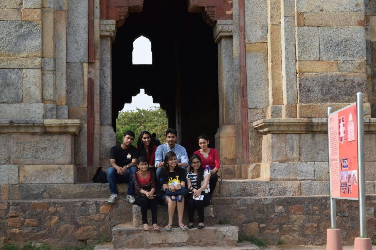 GoUNESCO Interns meet up at Lodhi gardens in Delhi. Photo: GoUNESCO