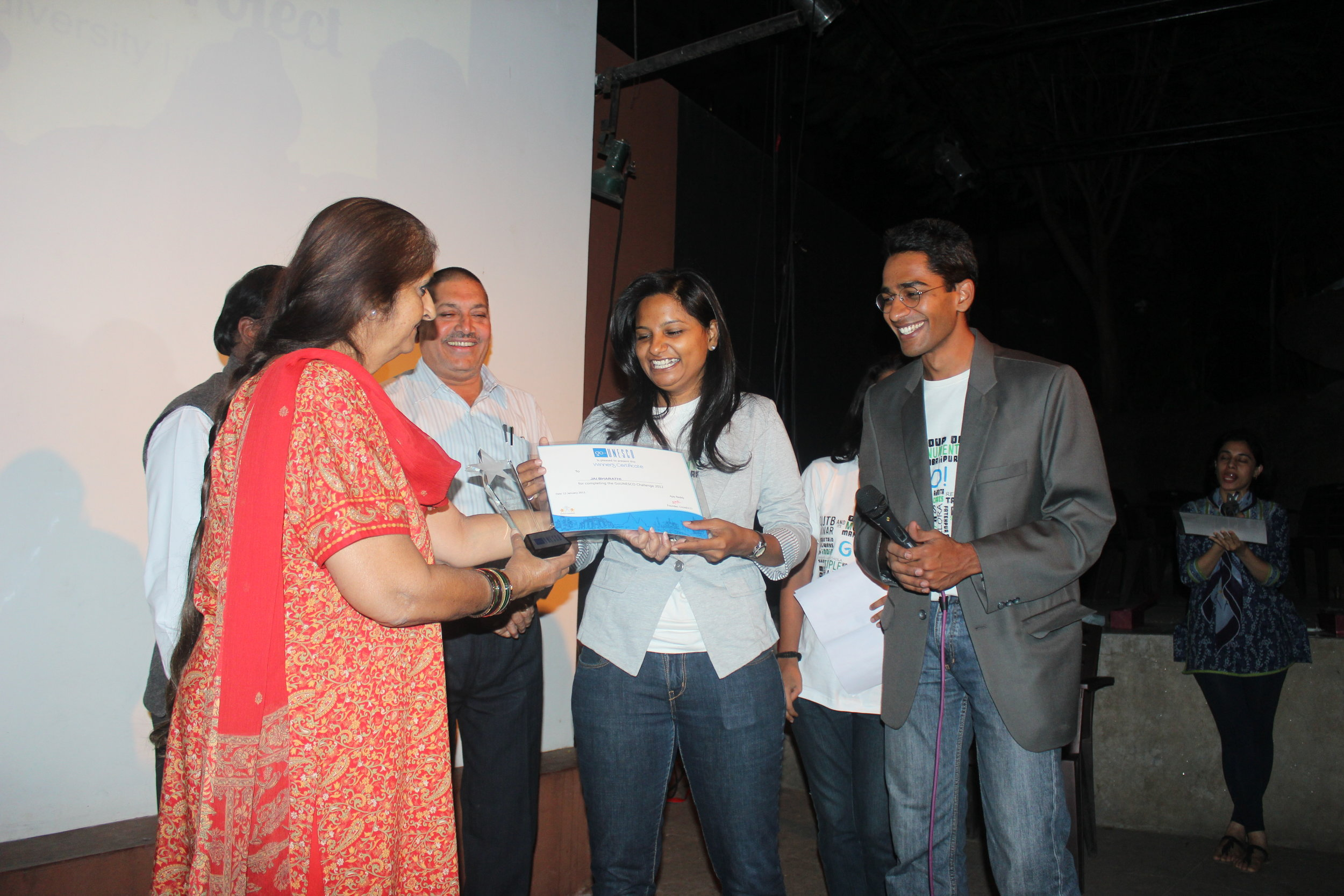 Jai bharathi - winner of GoUNESCO Travel Challenge 2012. Photo: GoUNESCO