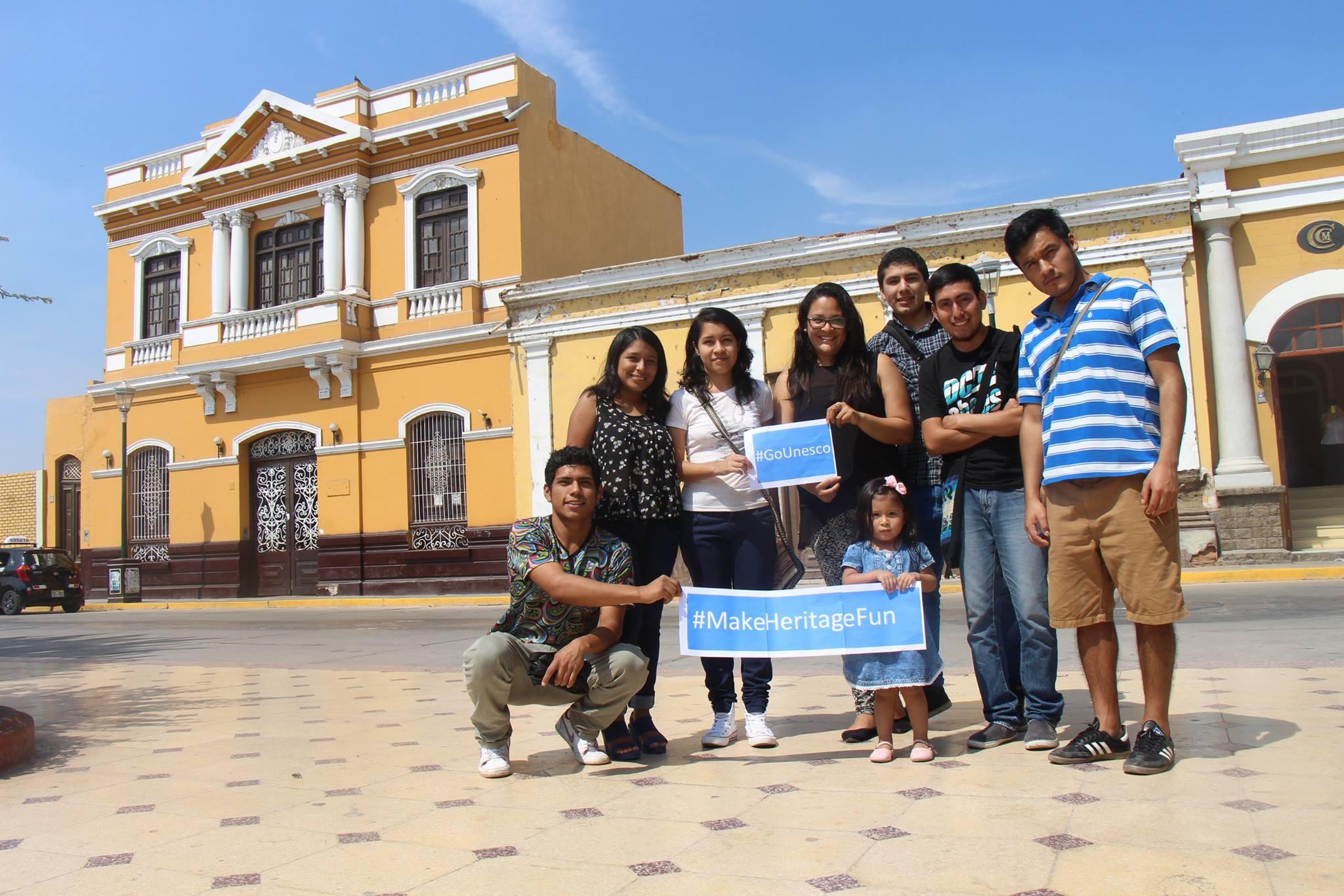 GoUNESCO participants in Peru (l) and Prague. Photos: GoUNESCO