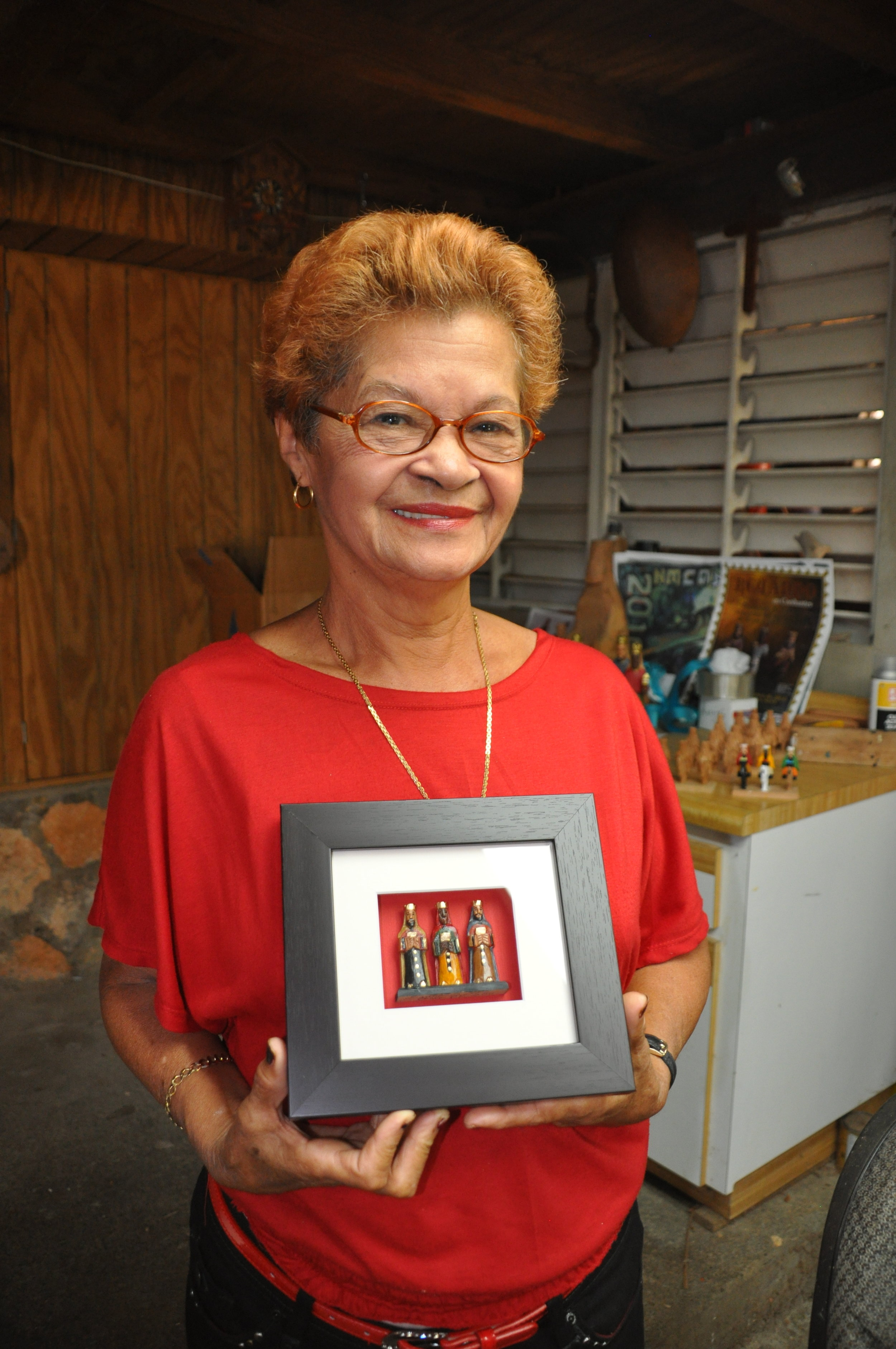 Santero dynasty matriach Santia Rivera Martinez. Photo Meg Pier