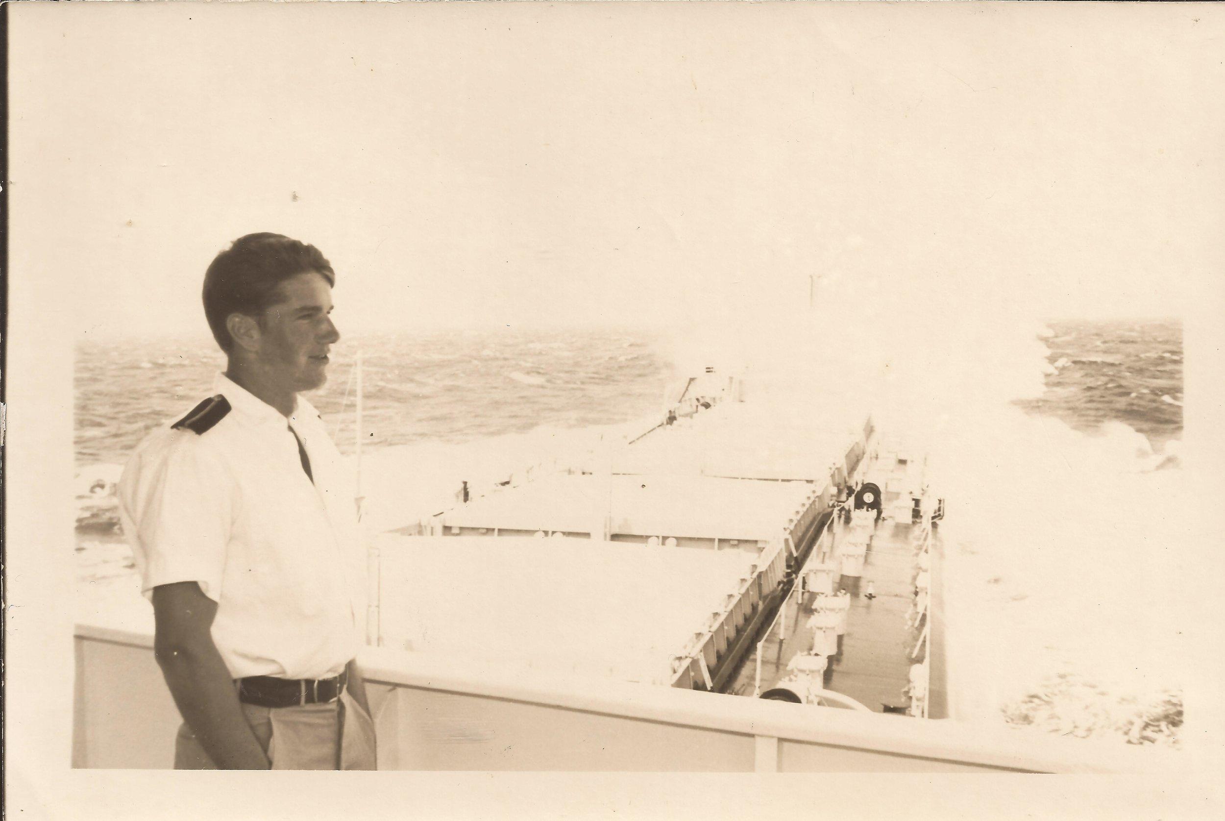 Iain Morrison as a young member of the Merchant Navy. Photo: Turus Mara