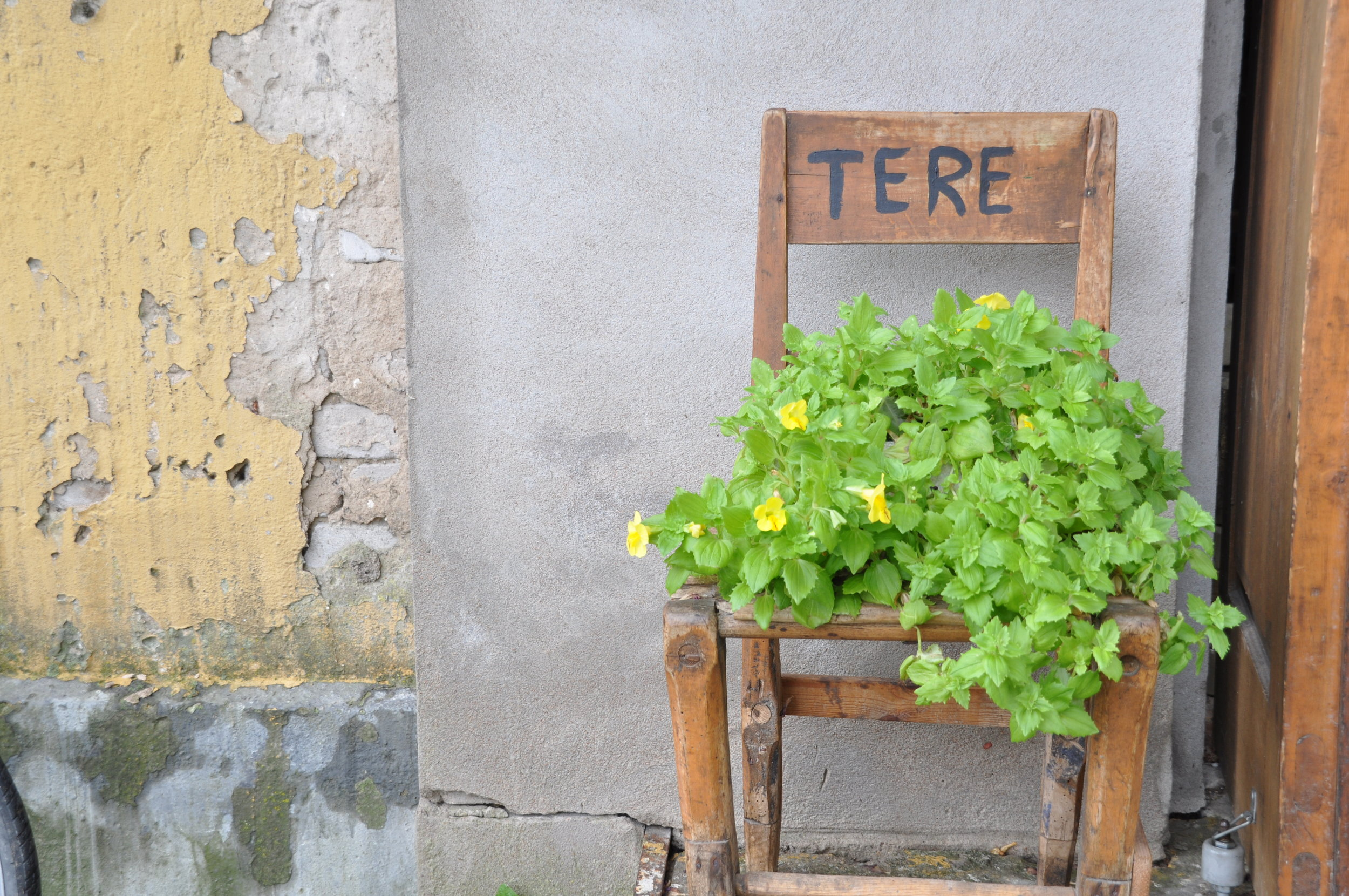 "A cheery welcome in Saaremaa's village of Orissare. Tere means ""hello"" in Estonian. Photo: Meg Pier"