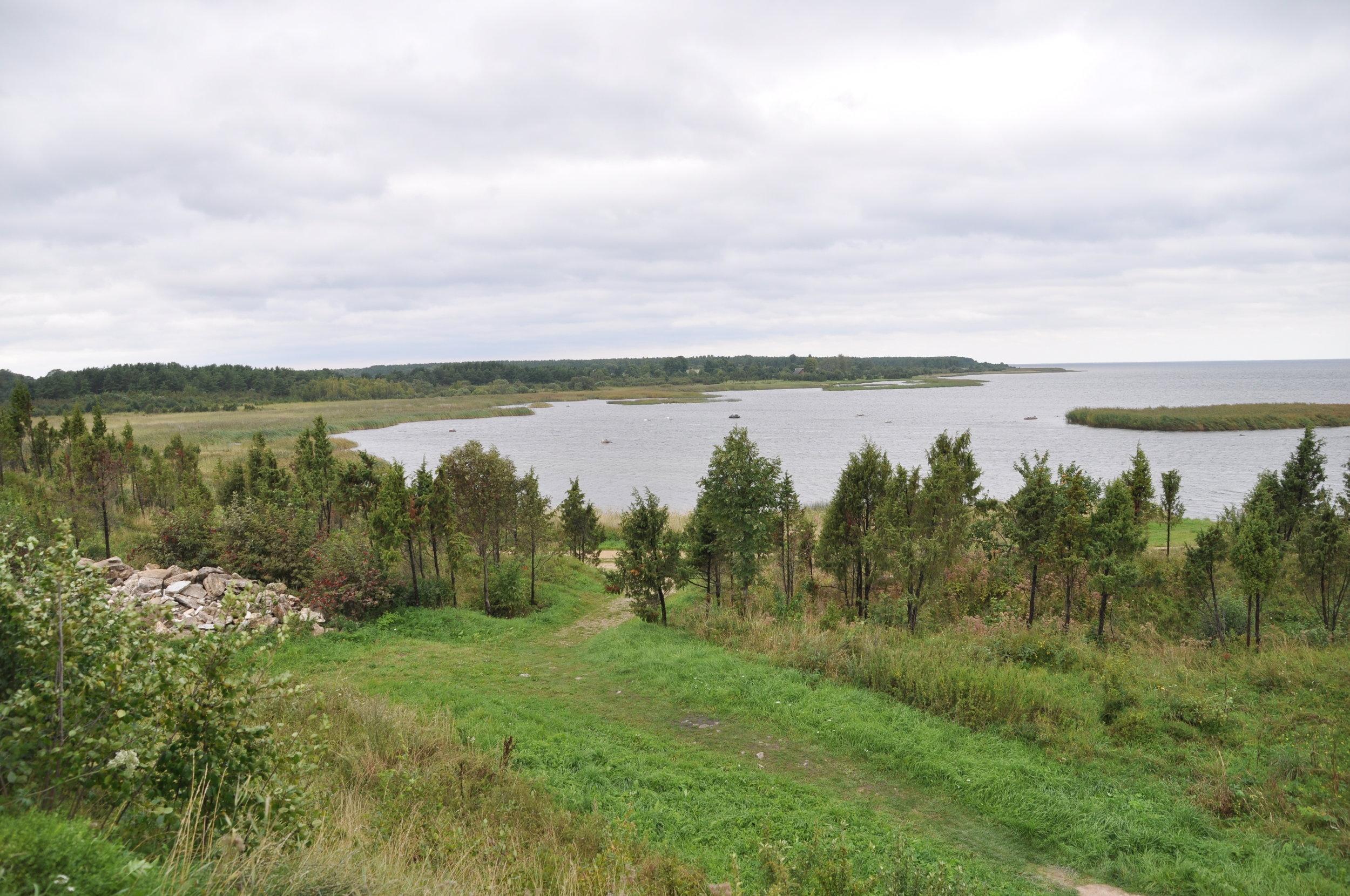 The view from Saaremaa's Maasi fortress. Photo: Meg Pier