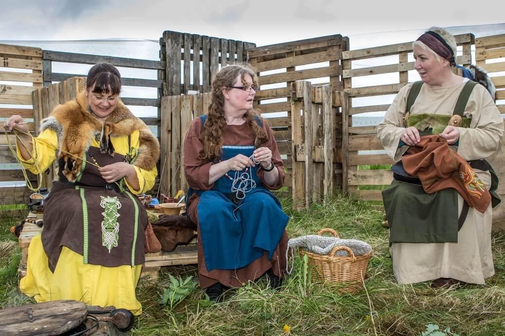 Founder Margret's Viking reenactment group. Credit: Margret Hallmundsdóttir.