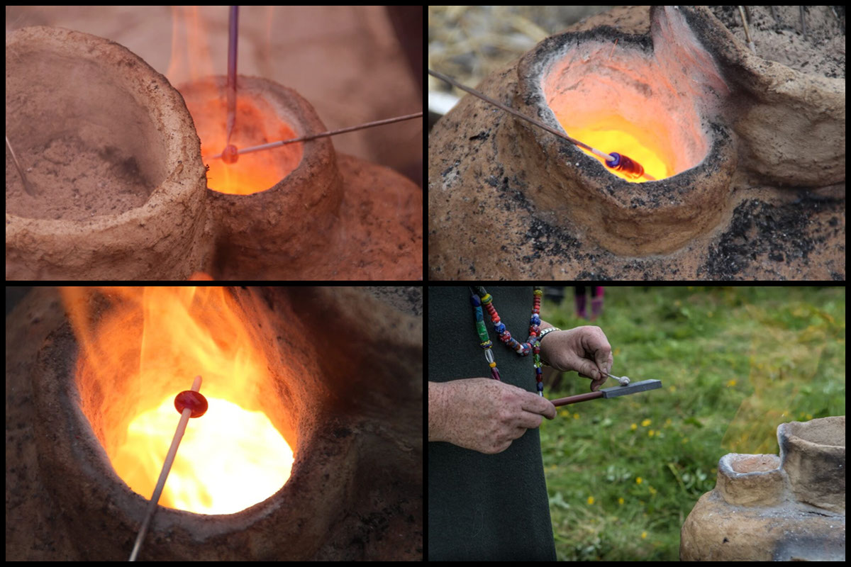 The process of making Viking beads. Credit: Margret Hallmundsdóttir.