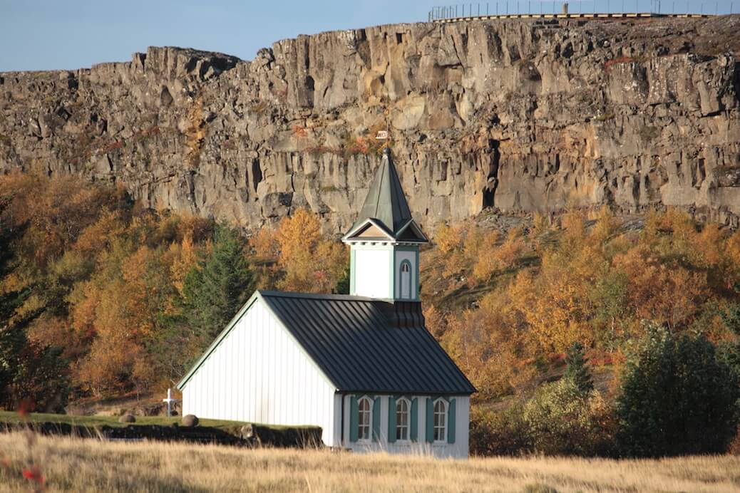 The grounds around the church at Thingvellir has yielded many archaeological finds. Credit: Margrét Hallmundsdóttir