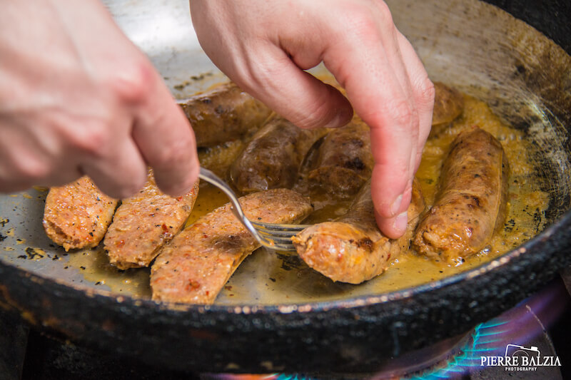 Cooked Maltese Sausage. Photo credit: Pierre Balzia