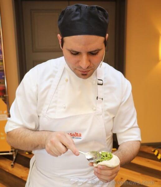 Chef Josef Baldacchino preparing food. Photo credit: Baltic Travel News
