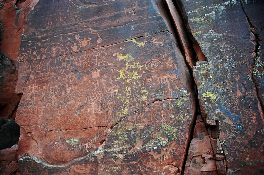 The Sinagua's incredible petroglyphs reminded this visitor of her own 'monkey mind'. Photo: Meg Pier