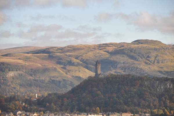 Wallace Monument from Stirling Castle. Photo: Meg Pier