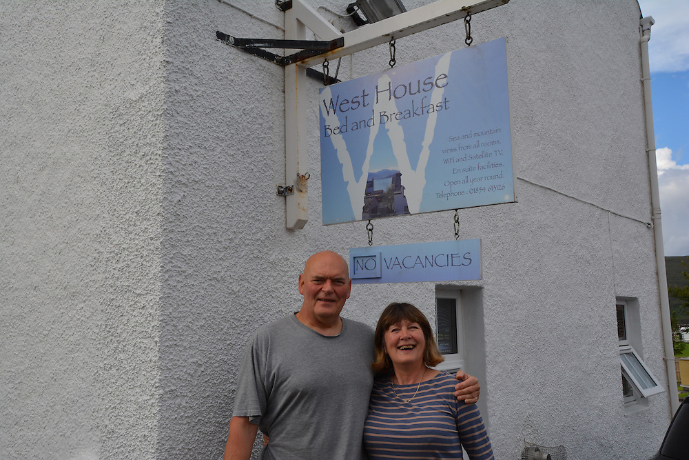 Richard and Colleen infront of their B&B. Photo: Meg Pier