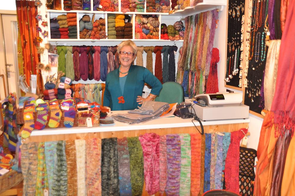 Polly's unlimited color store on West Argyle street. Photo: Meg Pier
