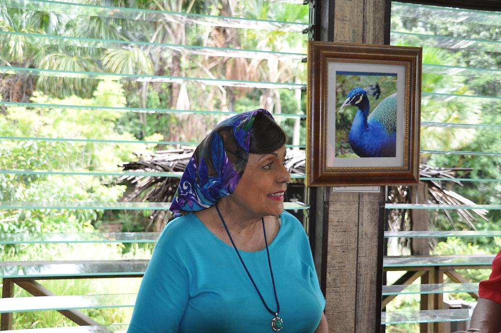 Molly R. Gaskin, president of the Pointe-à-Pierre Wild Fowl Trust since 1981. Photo: Meg Pier