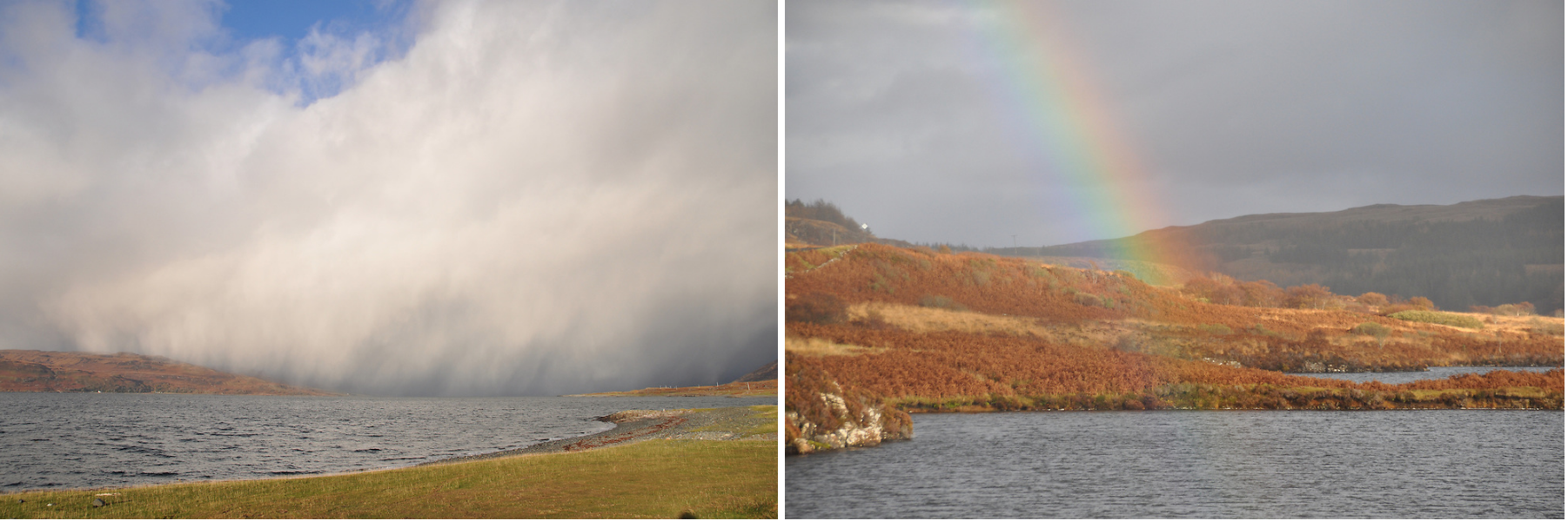 An ever changing light show on the Isle of Mull. Photos: Meg Pier