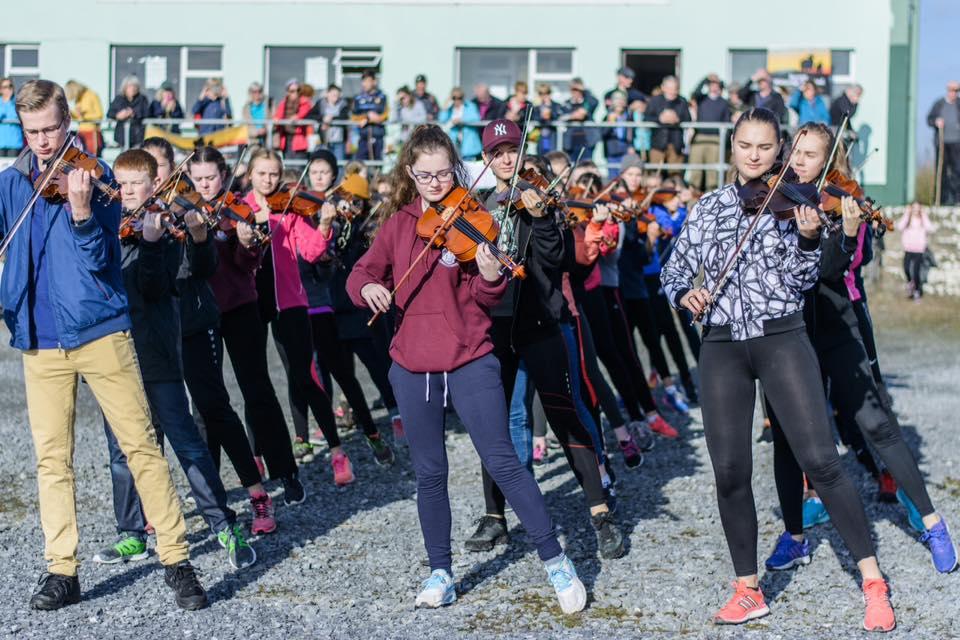 Young musicians on Burren