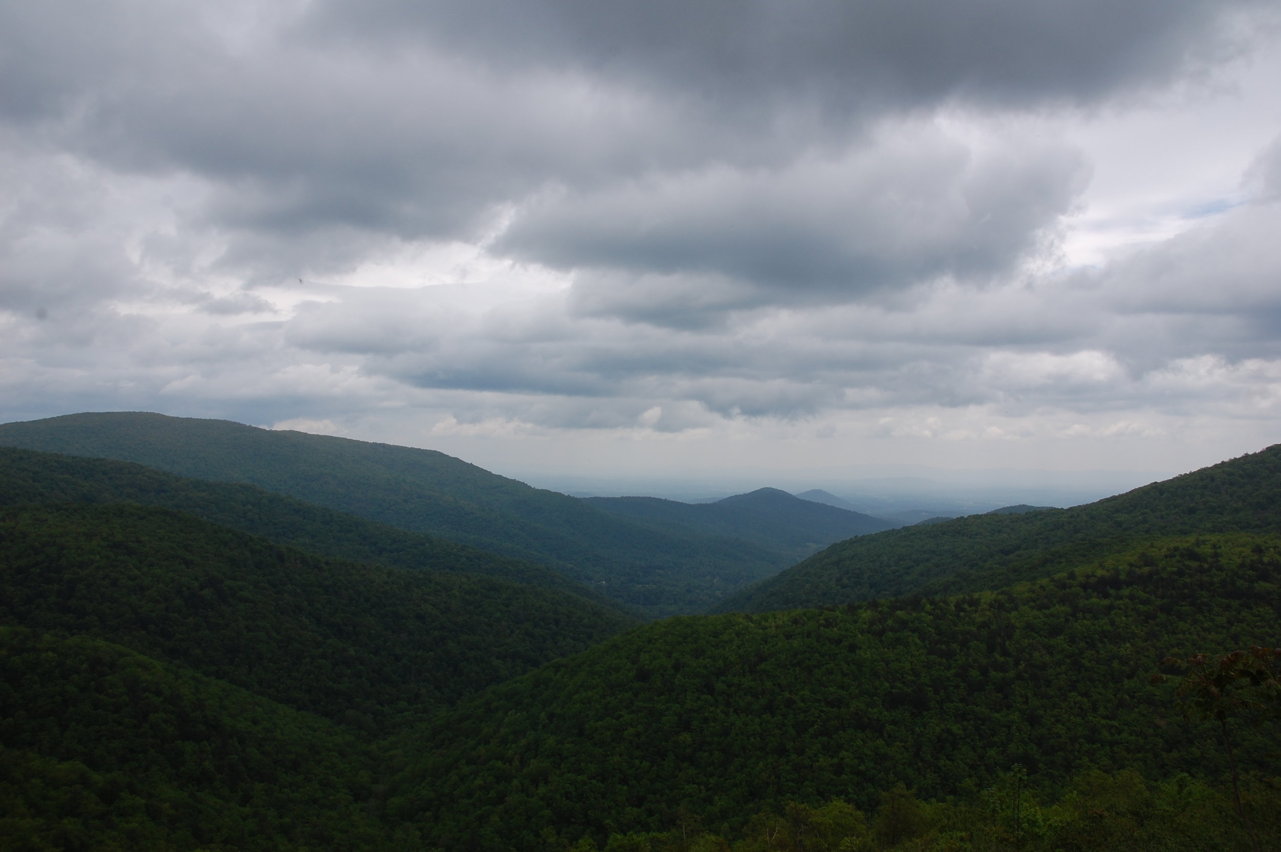 mountains from skyline drive