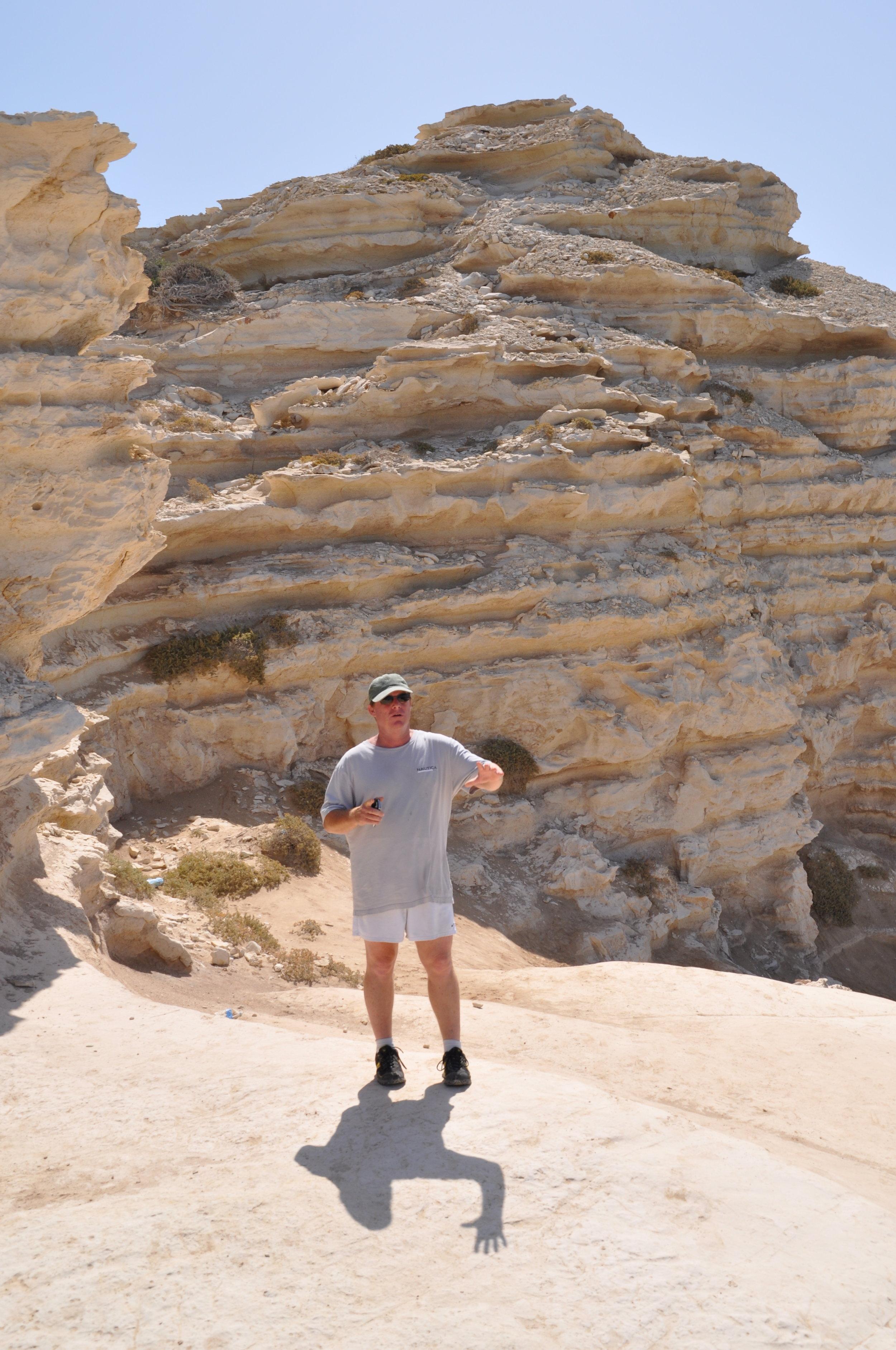 David exploring the Cypriot landscape. Photo: Meg Pier