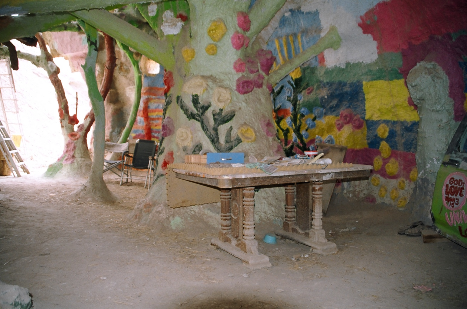 trees at salvation mountain