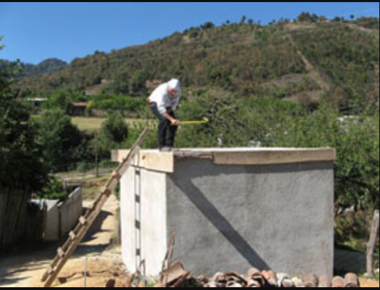 Sergio doing work on a construction site for a village. Photo: Patricia Ferrer