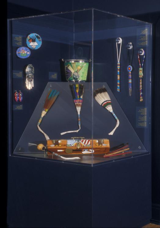 Symbols of Faith & Belief exhibit case. Photo: Dan Swan
