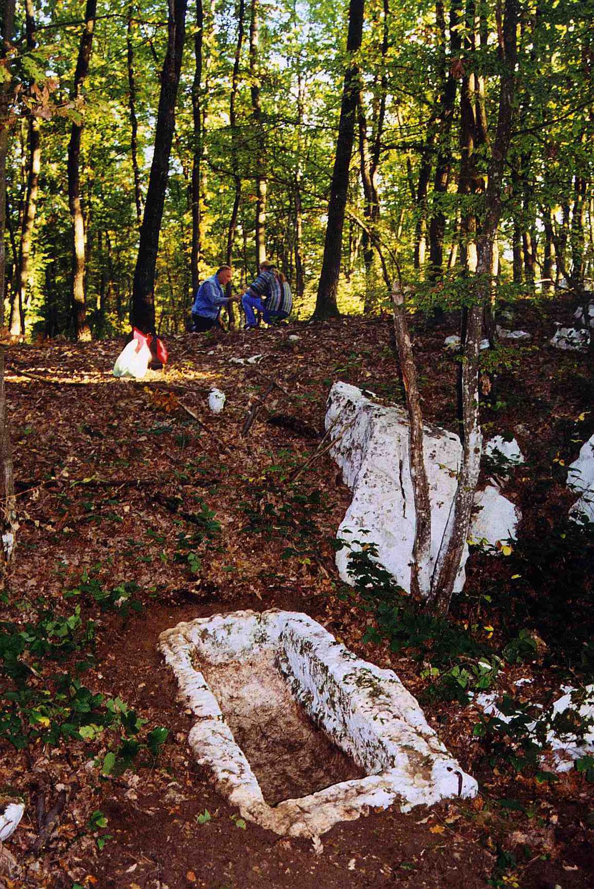 quarries of the roman sarchophagi and stone urns, karlovac region