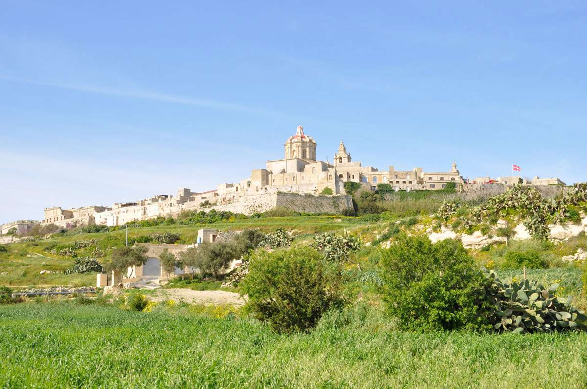 Gozo's Citadel from afar. The location has been inhabited since the Stone Age, Photo: Meg Pier