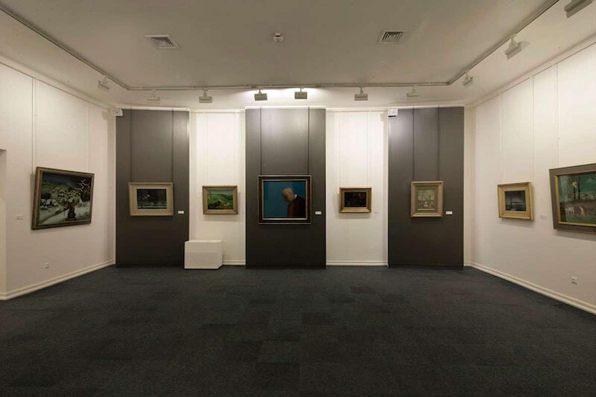 Gallery room in The Croatian Museum of Naïve Art, Zagreb full of works from Ivan Generalić. Photo credit: The Croatian Museum of Naïve Art, Zagreb