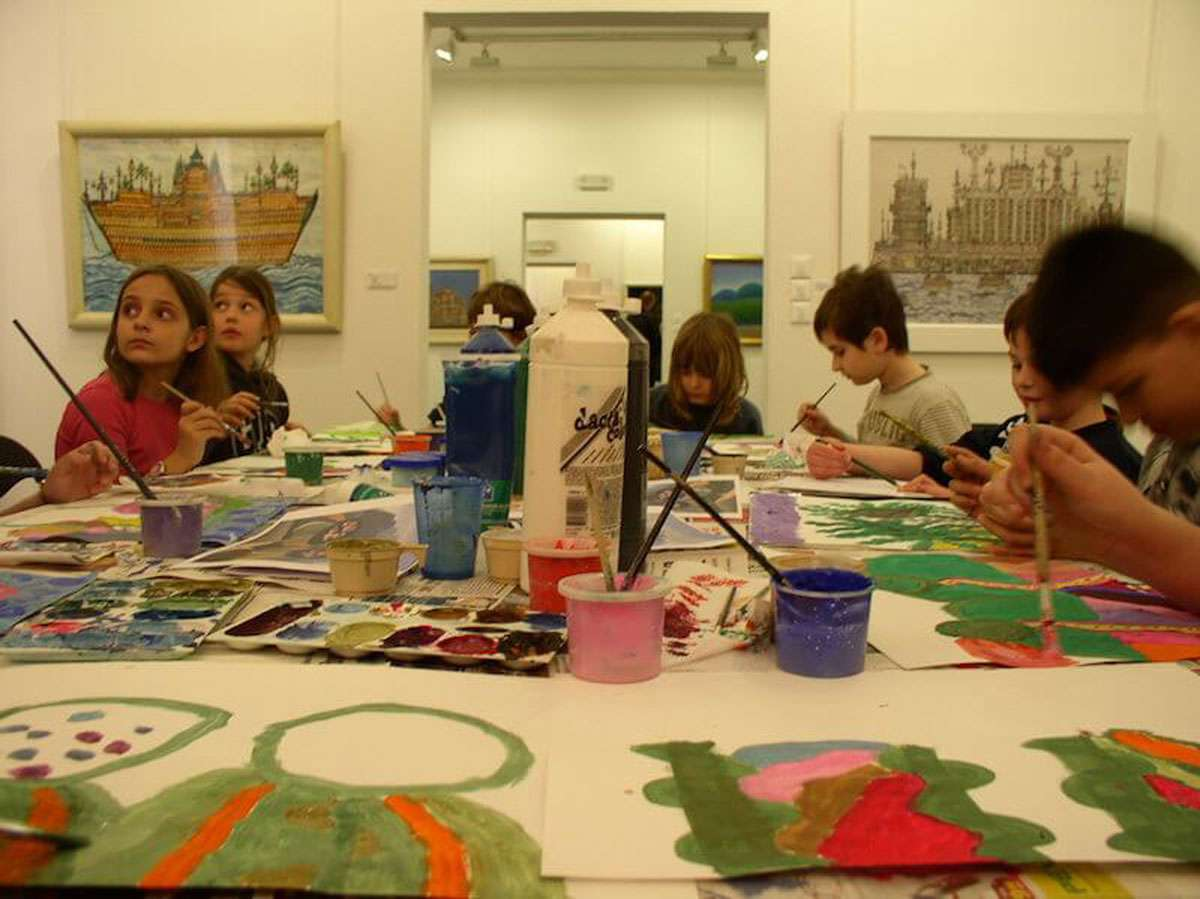 Children learning about art. Children are the future of the art world. Photo credit: The Croatian Museum of Naïve Art, Zagreb