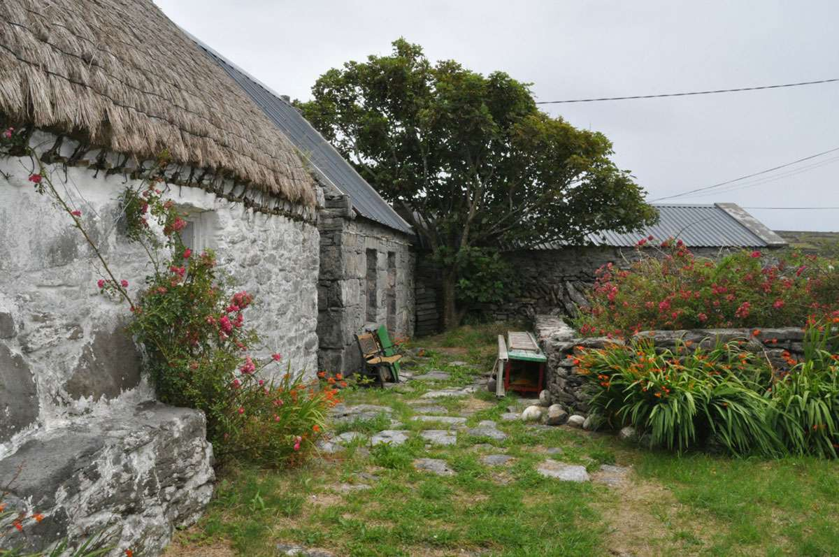 Traditional stone houses on Inishmaan Island