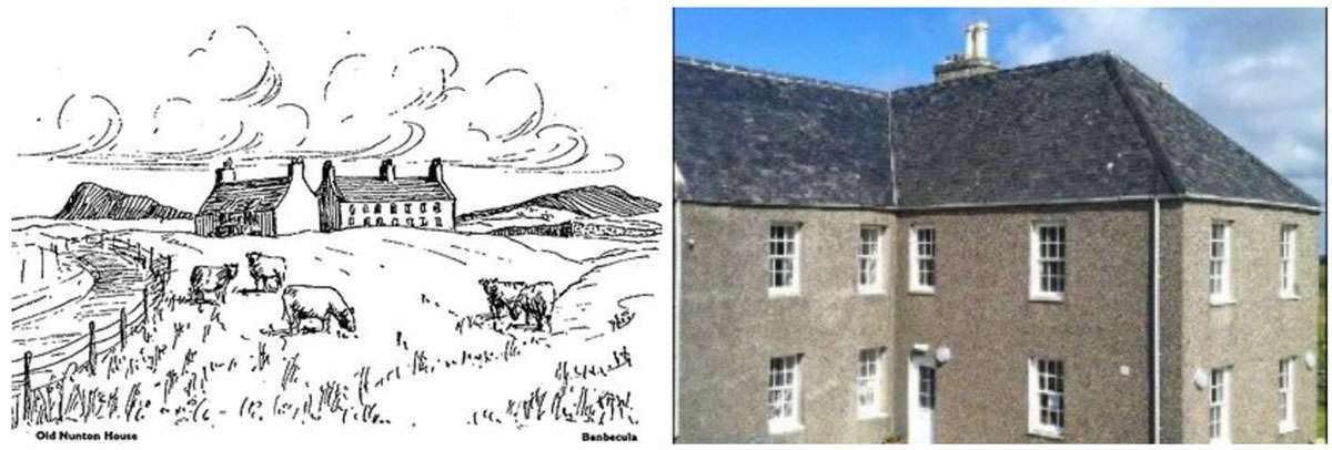 (Left) Old Nunton House. (Right) Nunton House Hostel