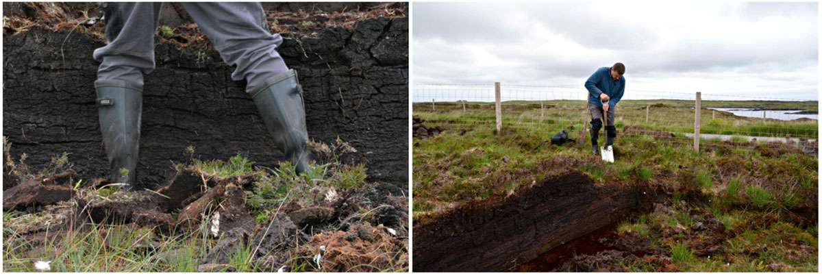 Turfing the bog with crofter Donald MacPhee on the Isle of Benbecula. Photo: Meg Pier