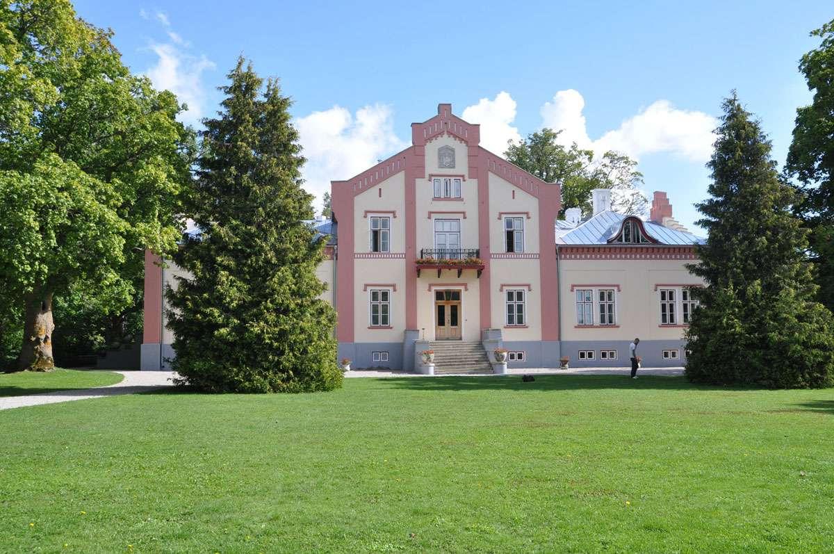 The Neo-Gothic five-star Pädaste Manor. Photo: Meg Pier