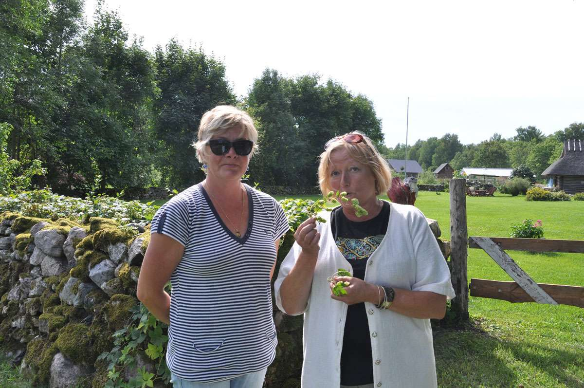 Liivi and Katrin, able ambassadors for Muhu Island! Photo: Meg Pier