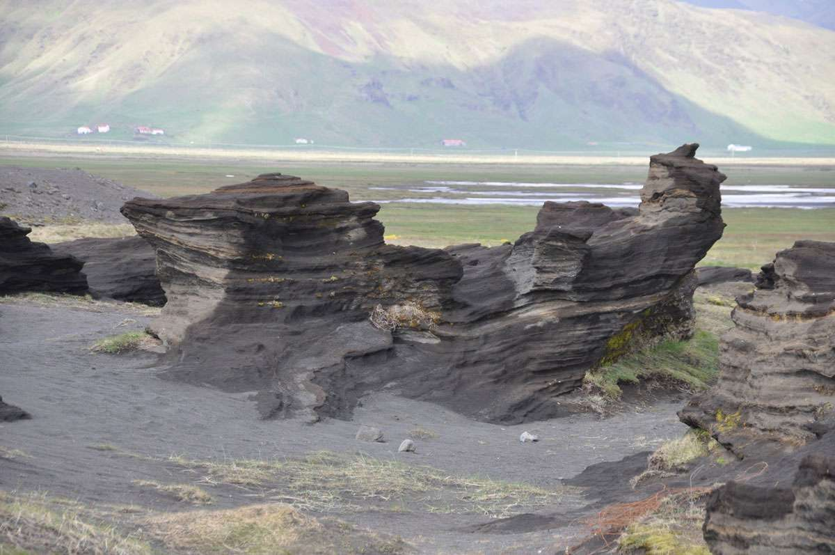 The landscape near Vik in southern Iceland