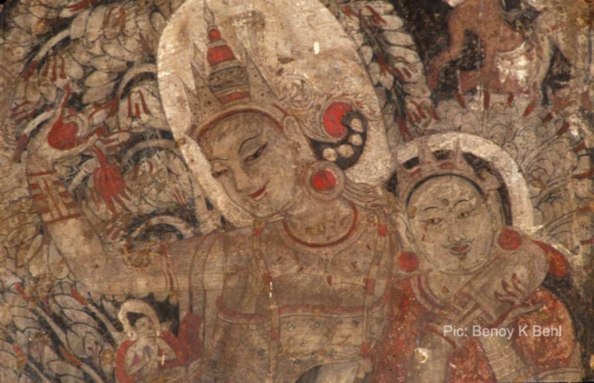 Birth of Buddha, Mural Painting, Bagan, Myanmar, 12th century. Photo: Benoy K Behl