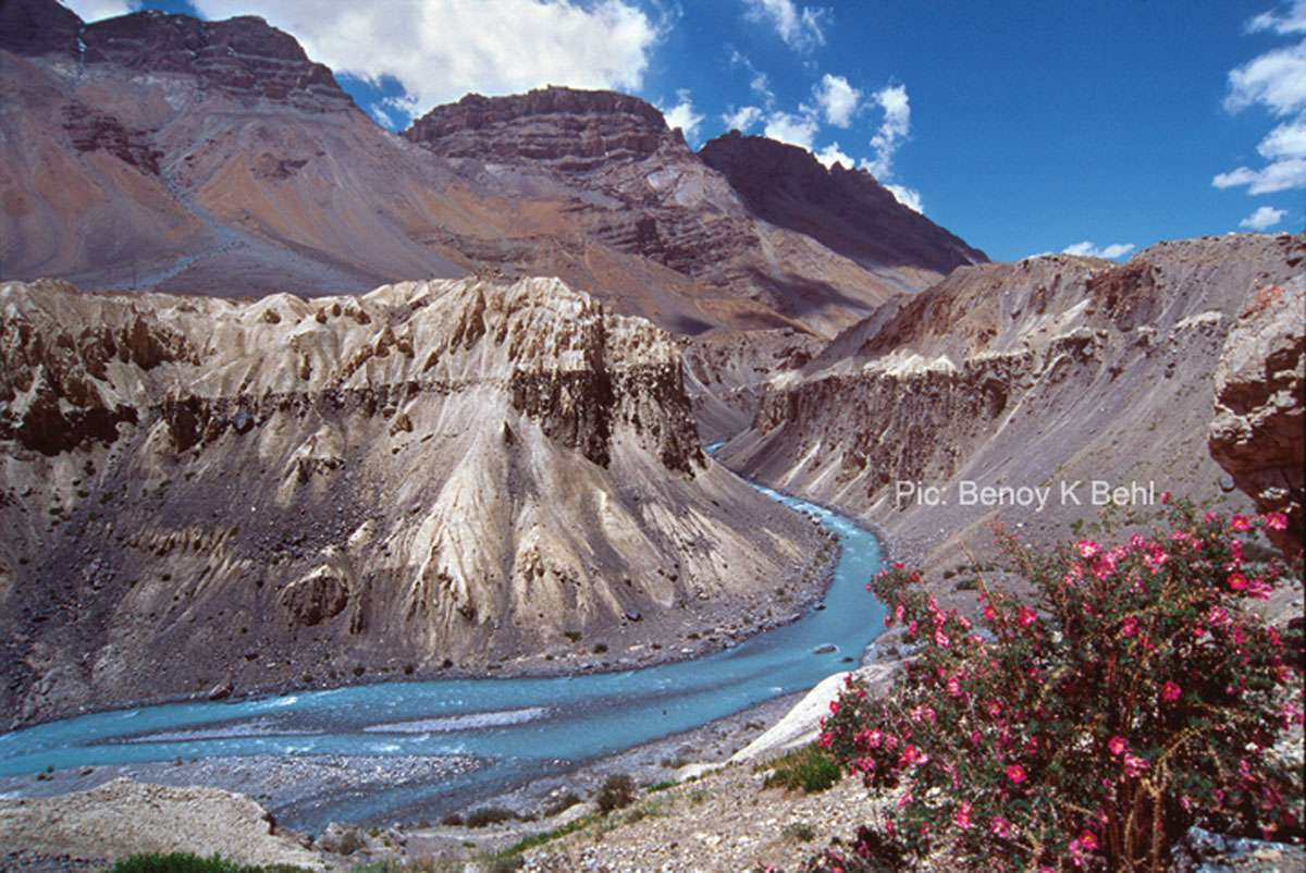 The trans-Himalayan Desert, Spiti, India. Photo Benoy K Behl