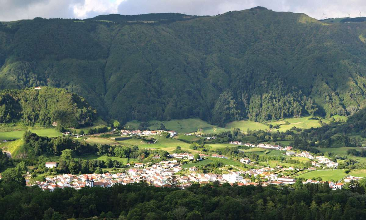 Lush countryside near Furnas on Sao Miguel in the Azores. Photo: Meg Pier