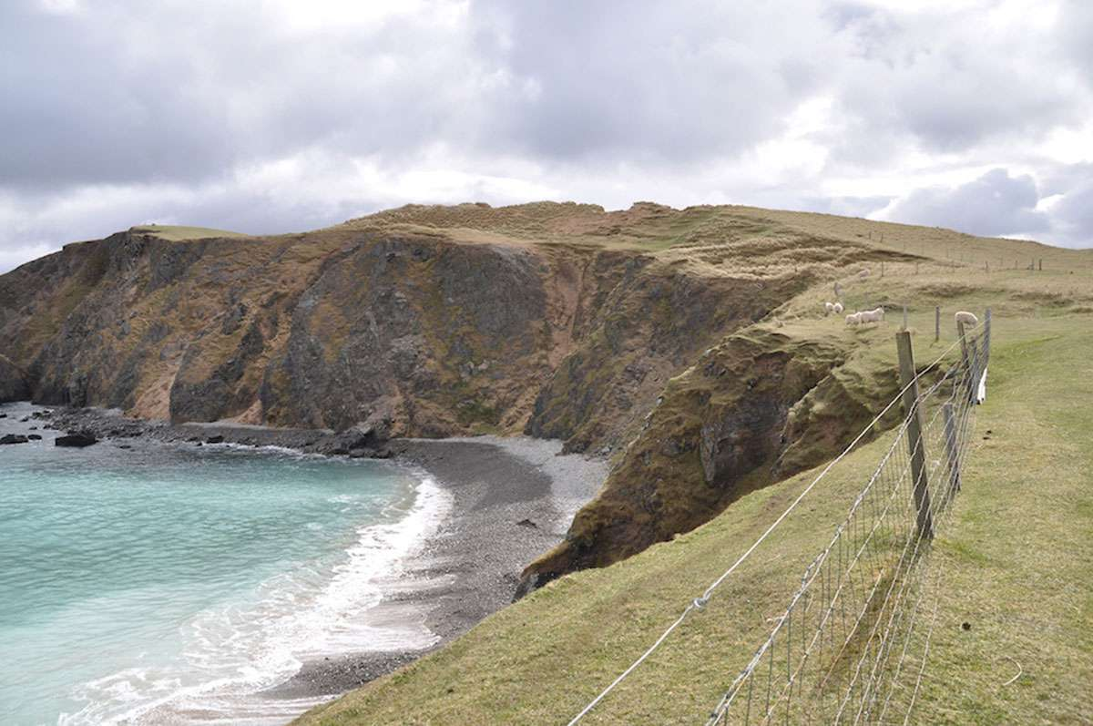 ocean and cliff at balnakiel in scotland.JPG
