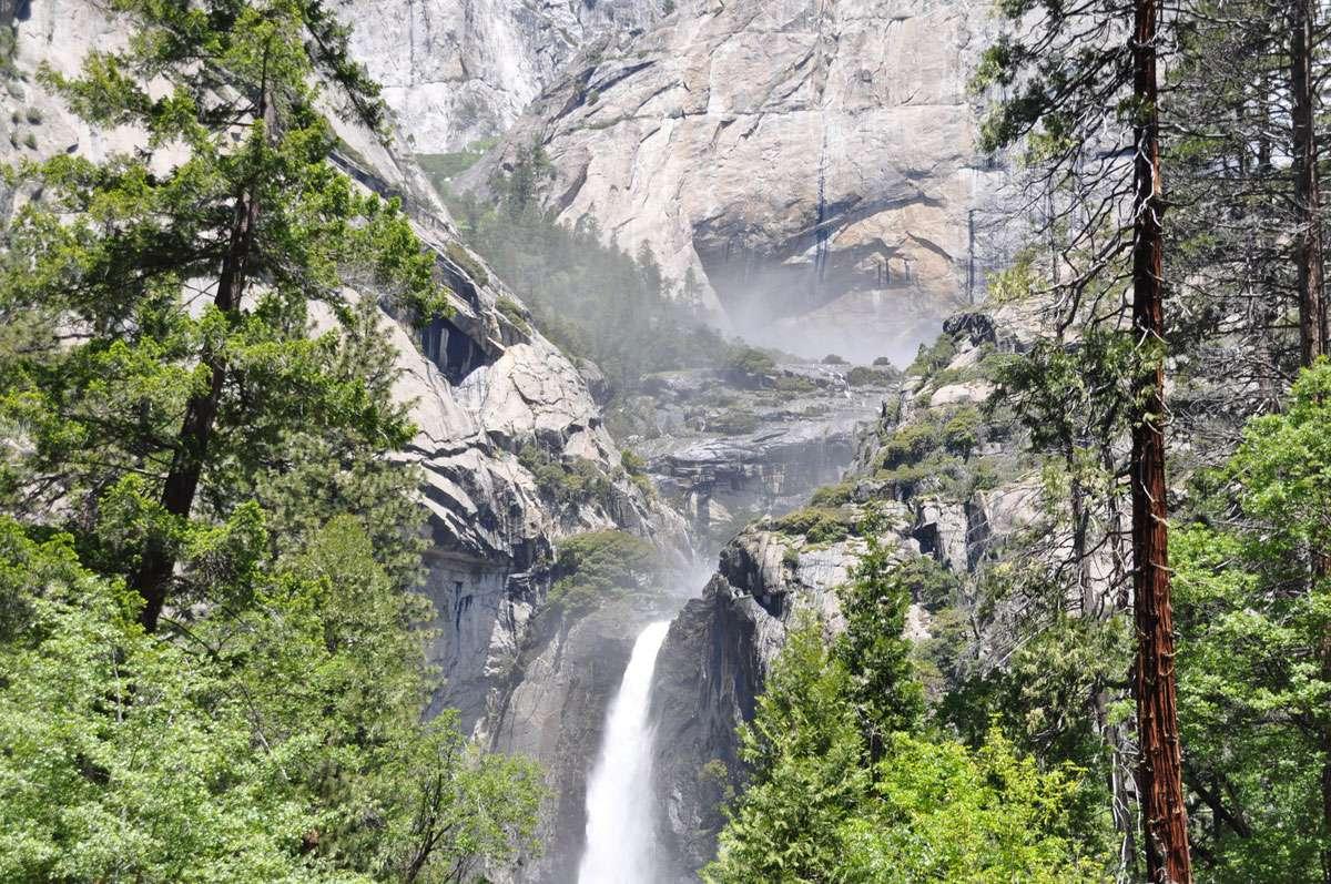 Yosemite falls near leconte