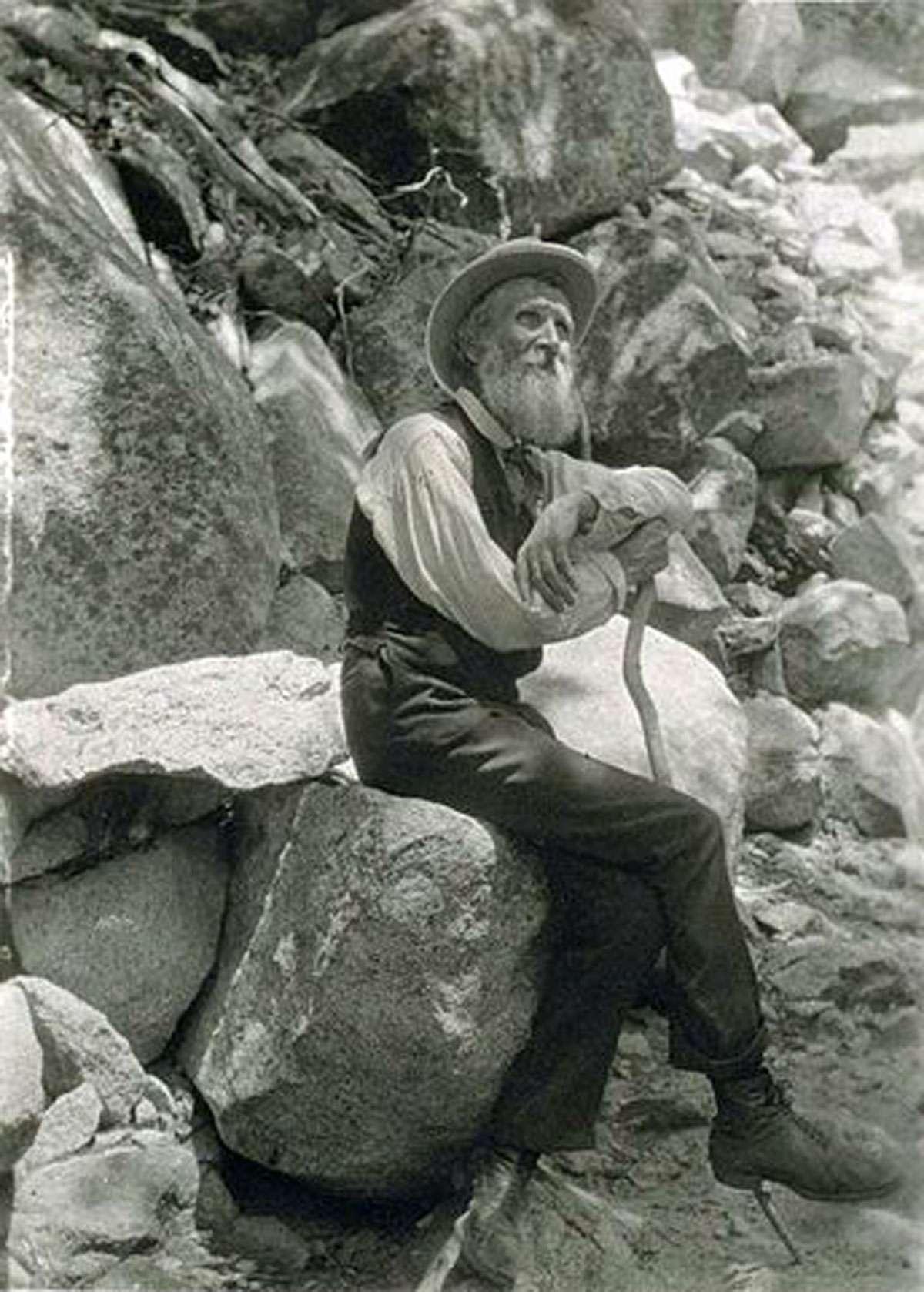 John Muir in 1907. Credit: Professor Francis M. Fritz