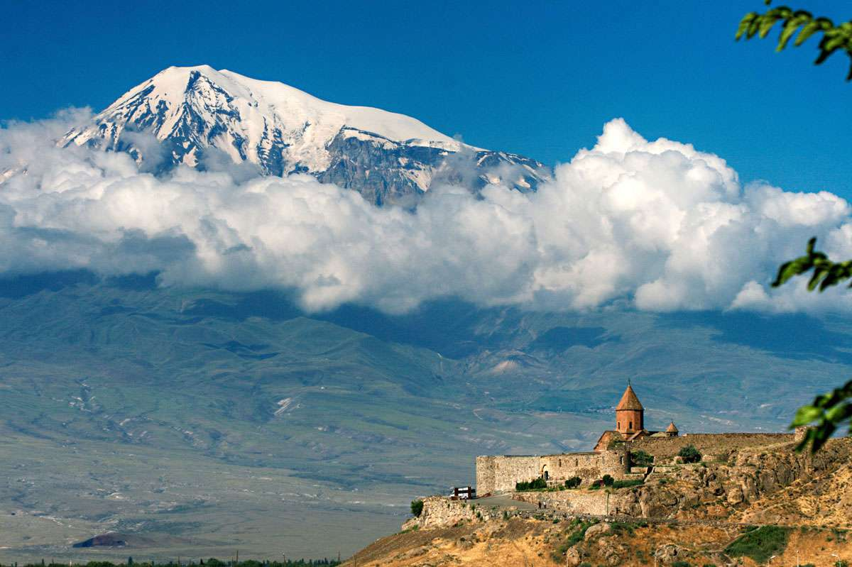 Mt. Ararat looms over Khor Virap Monastery near the border with Turkey. Photo:Roderick Eime, Creative Commons