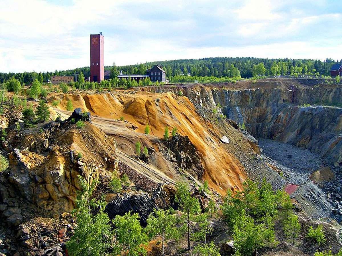 The Falun Mine Copper in Sweden
