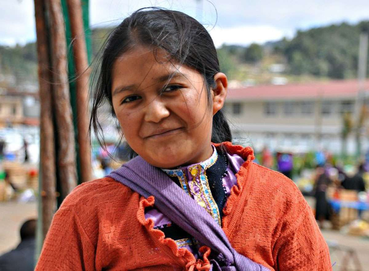 Young girl in San Juan Chamula, Mexico