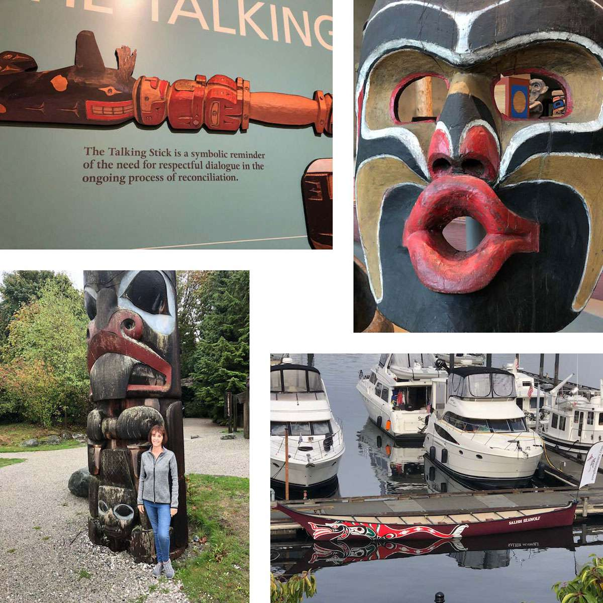 Claudia & R.J. Weston of San Diego were able to appreciate the First Nation culture in British Columbia more thoroughly through their extended home swap. Photos: Courtesy of the Westons
