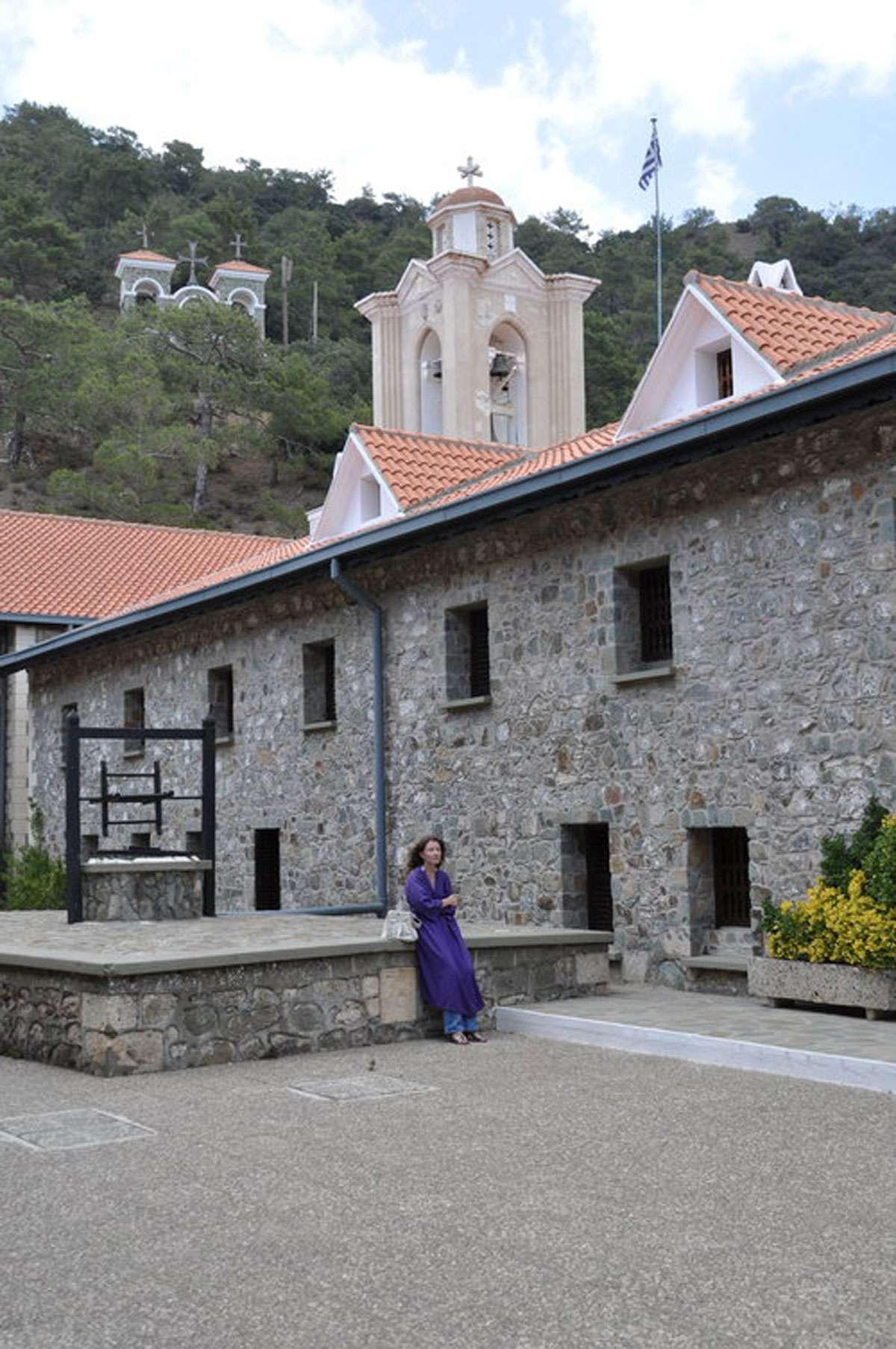 A pilgrim reflects at Kykkos Monastery