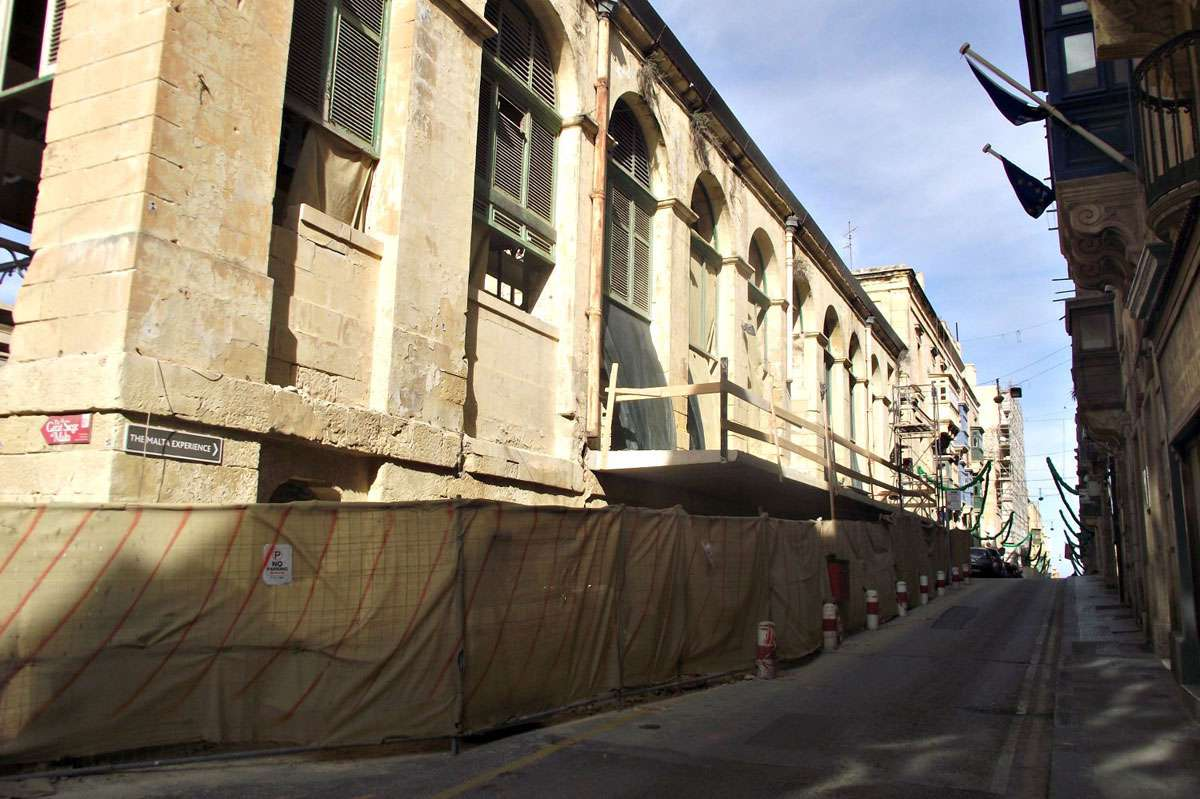 In January 2017, a discordant concrete projecting balcony appeared on Valletta's handsome Victorian market hall, replacing a public access point that had linked the hall to this street for more than a century and a half.