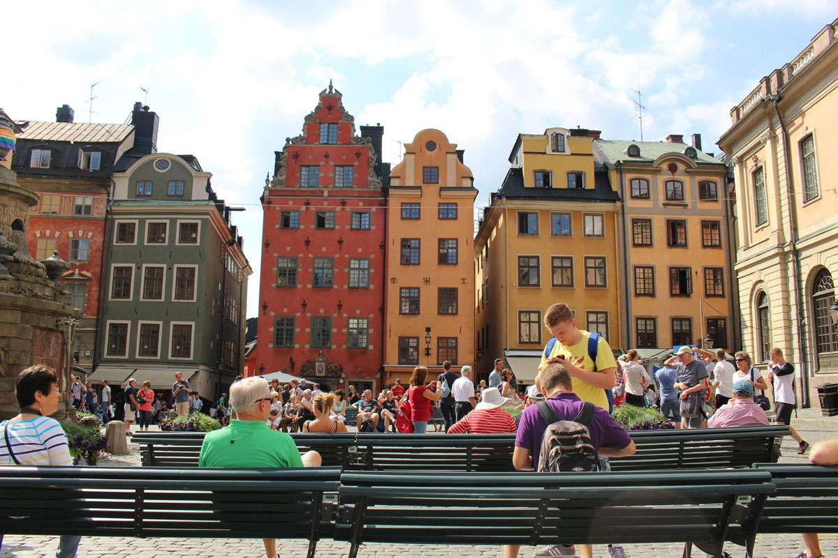 "Stockholm's Gamla Stan, or ""old town"""