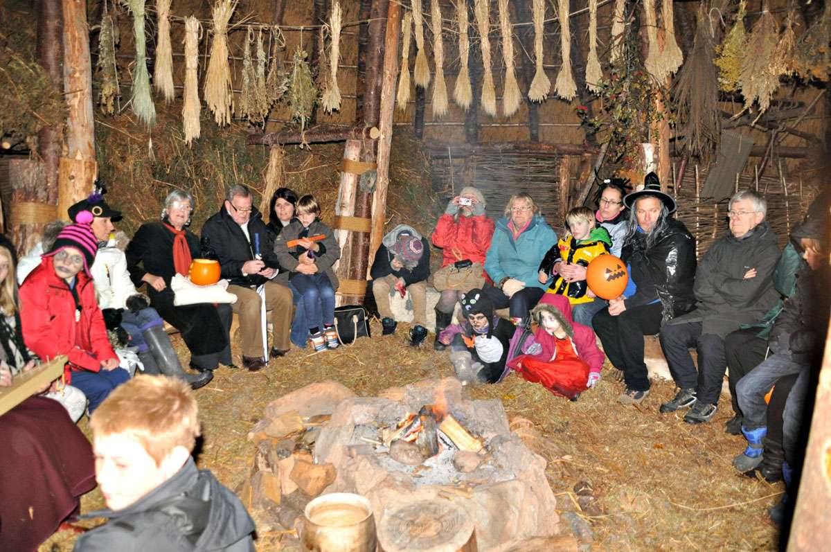 Storytelling session during the Samhain Festival - Scottish Crannog Centre. Photo: Meg Pier